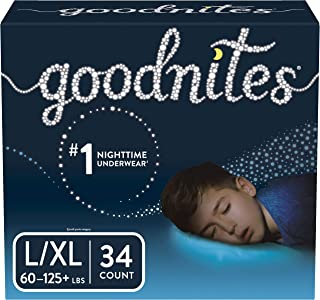 Goodnites Bedwetting Underwear for Boys, L/XL, 34 Ct, Packaging May Vary