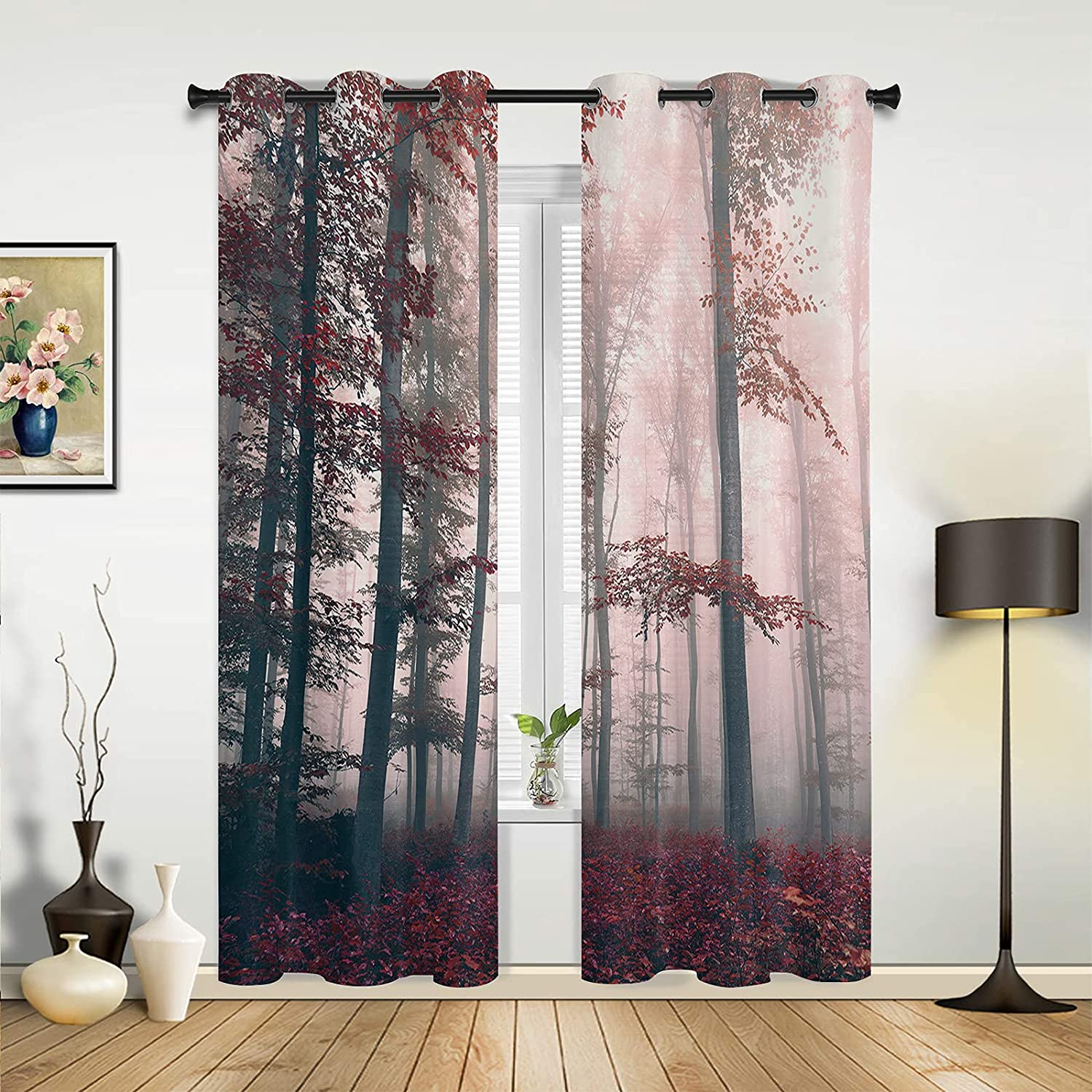 Window 2021 new New life Sheer Curtains for Bedroom Autumn Living Room Romantic Fo