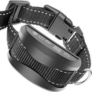 TIFTAF Bark Collar - One Year Warranty - Harmless and Humane Anti Barking Control Device Train Your Pet. Safe for Large Medium and Small Dog Rechargeable Rainproof Lightweight