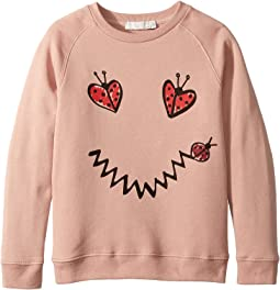 Betty Ladybug Smile Long Sleeve Sweater (Toddler/Little Kids/Big Kids)