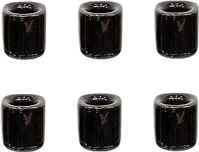 Kheops Fine 6 pcs Ceramic Chime Ritual Spell Candle Holders - Black