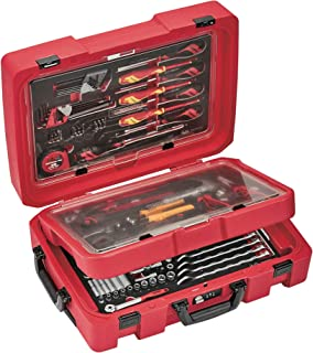 Teng Tools 118 Piece Screwdriver, Plier, Hammer, Socketry & Wrench Service Case Tool Kit - SCE1