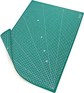 MAXKO tapis de découpe A2 (60 x 45 cm), vert, auto-cicatrisant, avec grille, PVC/tapis de découpe/tapis de découpe/plaque ...