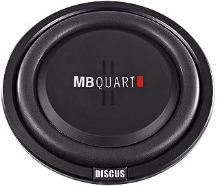 $64 » MB Quart DS1-304 Discus Shallow Mount Subwoofer (Black) – 12 Inch Subwoofer, 600 Watt, Car Audio, 2 Inch Voice Coils, UV R...