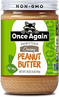 Once Again Organic, Creamy Peanut Butter - Salt Free, Unsweetened - 16 oz Jar