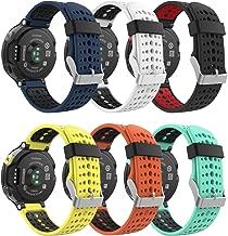 MoKo Band for Garmin Forerunner 235, [6PACK] Soft Silicone Replacement Watch Band for Garmin Forerunner 235/235 Lite / 220/230 / 620/630 / 735 Smart Watch 6 Pack, Multi Color 5