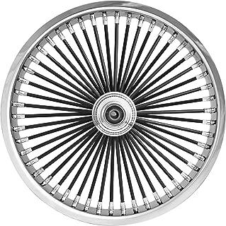 Ride Wright Wheels Inc Exotica Black 50 Spoke 21x3.5 Front Wheel (Single Disc), Color: Black, Position: Front, Rim Size: 21 04235-845SD-EX-BLKSP-T