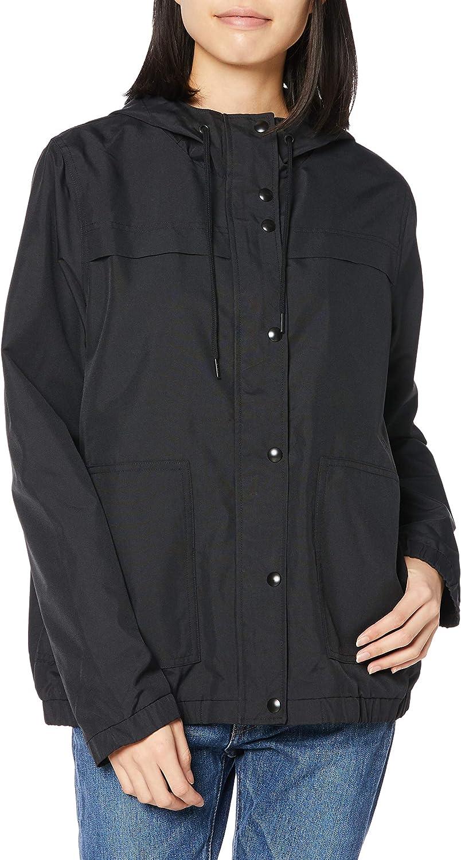 Volcom Women's Enemy Stone Hooded Zip Front Windbreaker Jacket