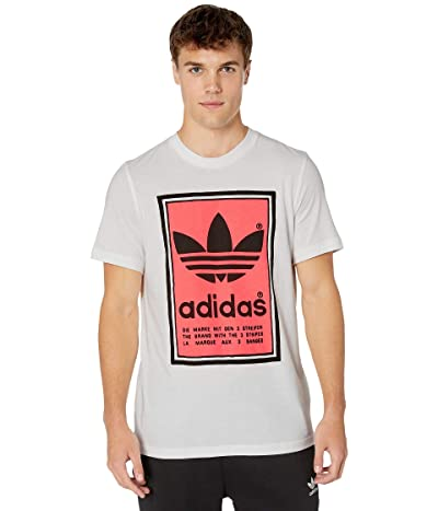 adidas Originals Filled Label Tee (White/Flash Red) Men