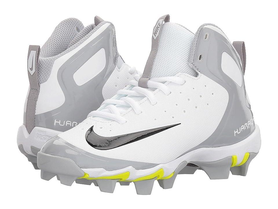 Nike Kids Alpha Huarache Keystone Mid BG (Toddler/Little Kid/Big Kid) (White/Black/White/Wolf Grey) Kids Shoes
