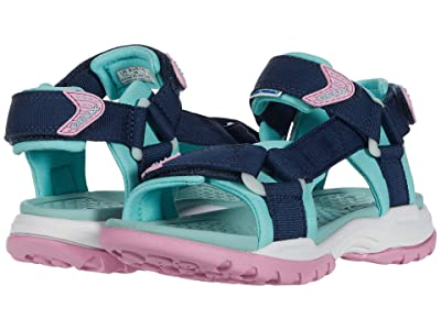 Geox Kids Borealis 10 (Little Kid/Big Kid) (Blue Azure) Girl
