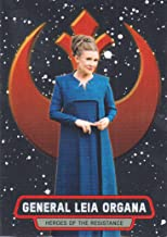 2016 Topps Star Wars The Force Awakens Chrome Heroes of the Resistance #18 Leia Organa