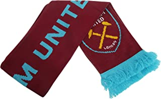 West Ham United FC Official Knitted Football Crest Scarf