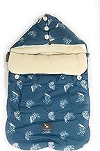 (Varios modelos) Saco nana capazo de Primaver -verano- otoño y grupo 0 bebe universal (Danielstore) (azul hoja)