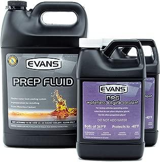 Evans Coolant EC42001 EC10064-2 Prep Fluid and NPG Race Track Specialty Coolant, 2 Gallon Combo Pack