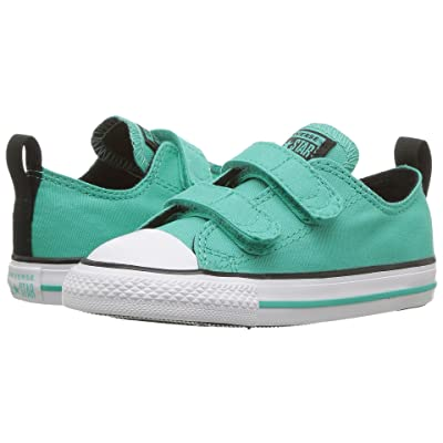 Converse Kids Chuck Taylor(r) All Star(r) 2V Ox (Infant/Toddler) (Pure Teal/Black/White) Girls Shoes
