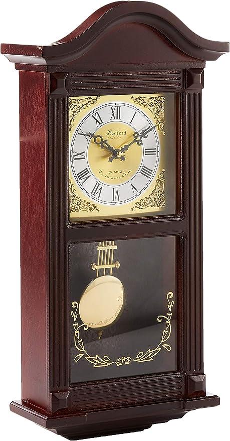 Bedford Clock Collection - Reloj de Pared con péndulo y Campanas, Madera de Cerezo : Amazon.com.mx: Hogar y Cocina