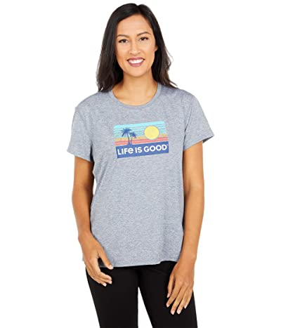 Life is Good Active Tee (Slate Grey) Women