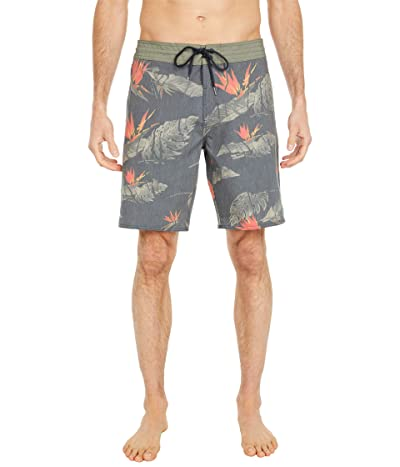Volcom Floral Erupter Stoney 19 Boardshorts (Black) Men