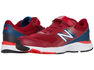 New Balance Kids 680v6 Bungee (Little Kid/Big Kid) (Neo Crimson/Rogue Wave) Boys Shoes