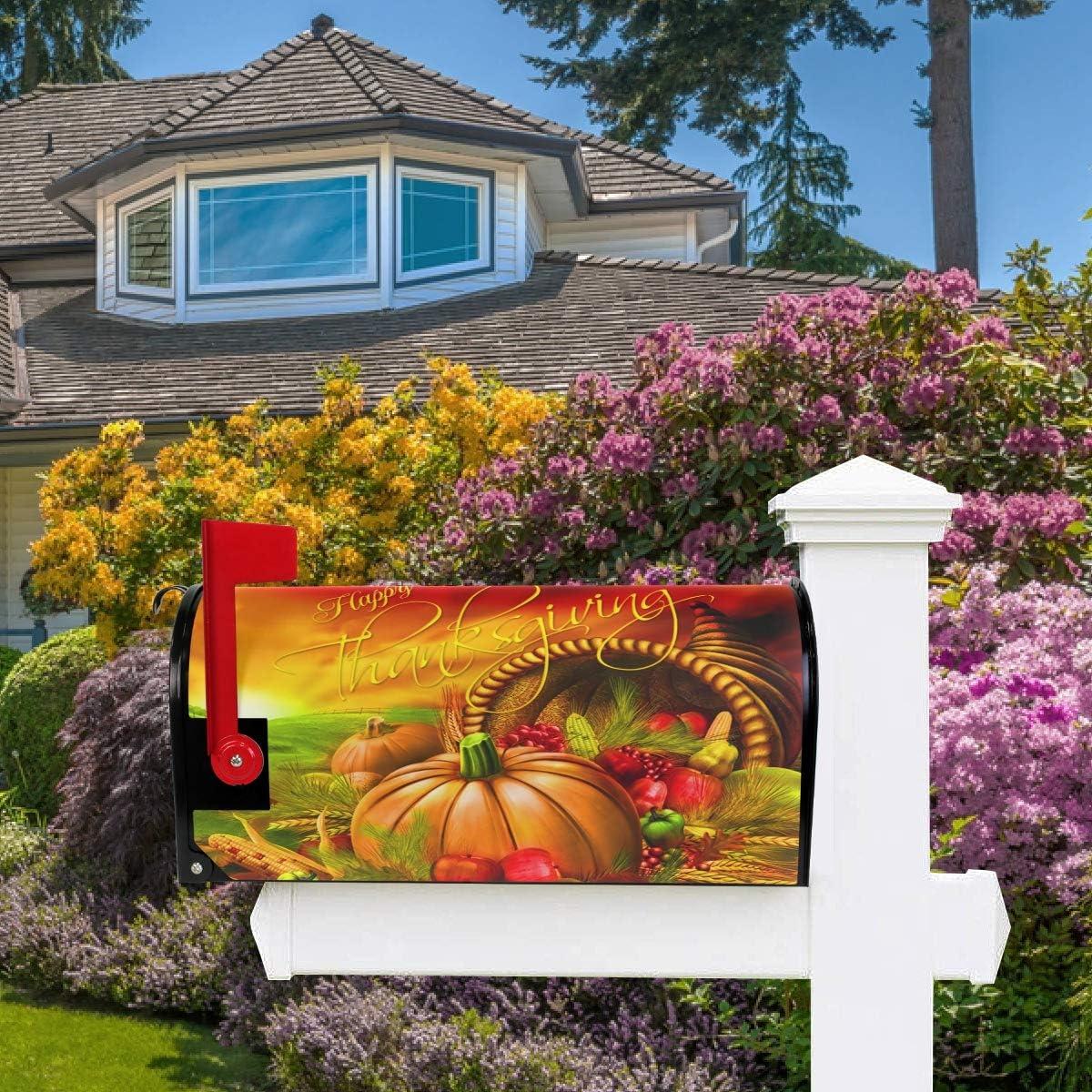 Oarencol American Flag Baseball Glove Mailbox Covers Magnetic Patriotic American Star Stripel Garden Yard Home Decor Standard Size 21 x 18