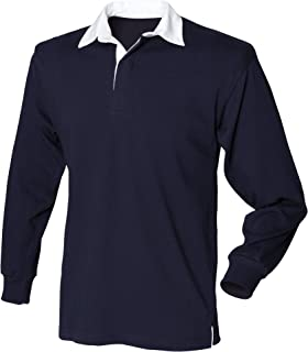 Front Row Mens Long Sleeve Sports Rugby Shirt (UK Size: L) (Navy)