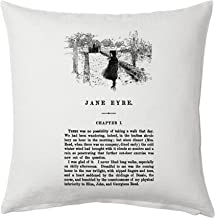 Universal Zone Jane Eyre by Charlotte Brontë Pillow Cover, Book pillow cover.