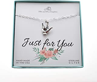 I Love You In Sign Language in sterling silver on an 18
