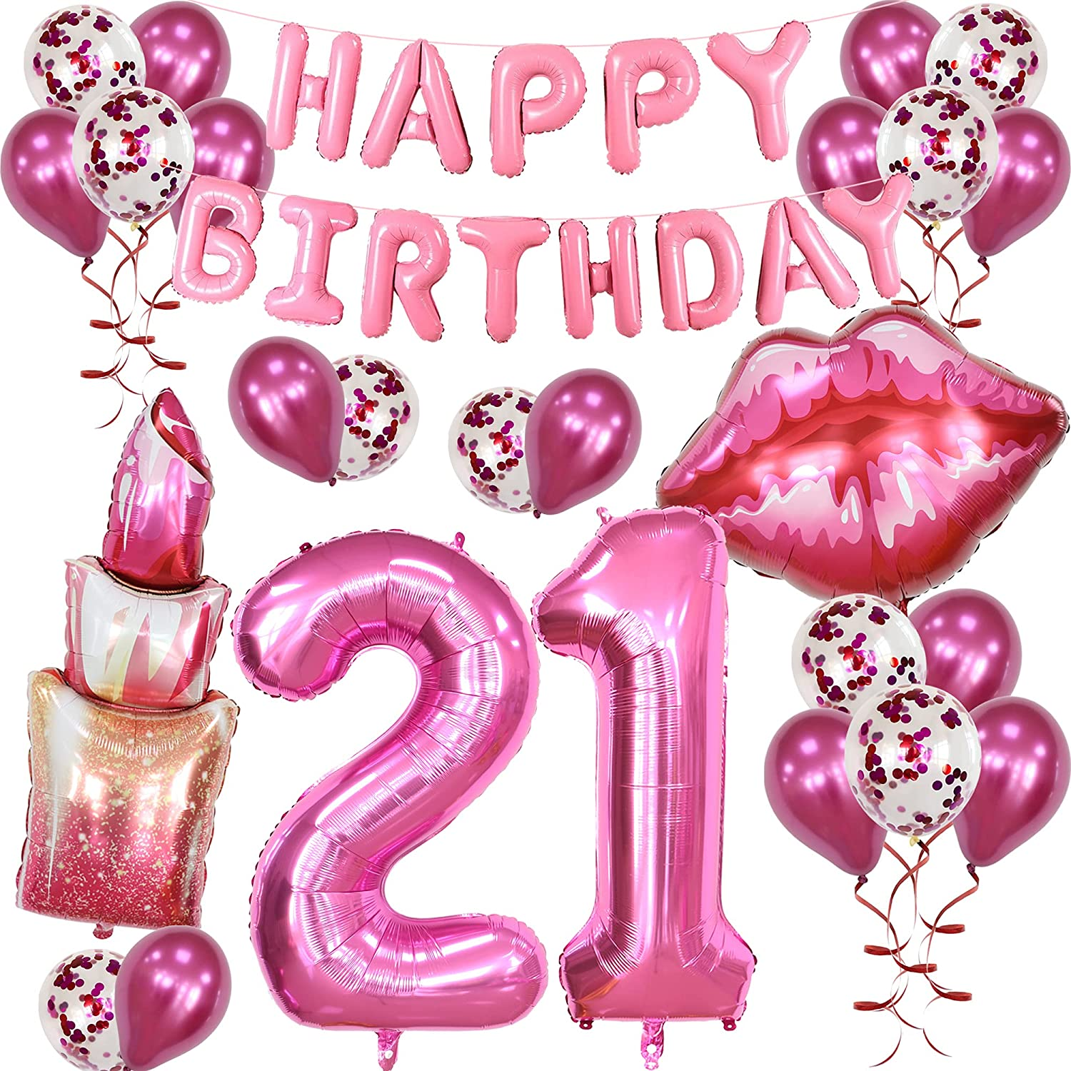 Spa Makeup Theme 21st Max 52% OFF Birthday Ba Supplies All stores are sold Happy Party