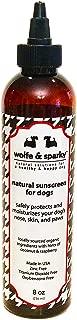 Wolfe & Sparky Protect Your Dog from Harmful Sun Damage Natural & Organic Dog Sunscreen! Zinc & Titanium Dioxide Free! (8 oz)