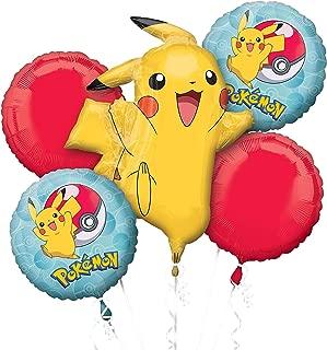 "Amscan Bouquet""Pokemon"" Foil Balloon, P75, packed, Blue"