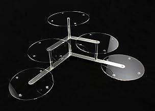 Aluminium acryl plexiglas taartstandaard rond bruiloft 3 etages 5 platen Ø 30 cm etagere buffet