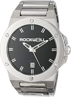Rockwell Men's CM112 Commander Stainless Steel Silver and BLACK Watch