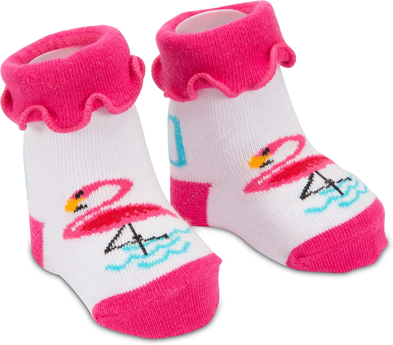 Pavilion Gift Company Baby Pink Flamingo-0-12 Sock, 0-12 M