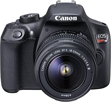 Câmera Digital EOS Rebel T6 EF-S 18-55 f/3.5-5.6 III BR, Canon, Preto
