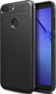 Huawei Honor 9 lite case, KuGi SS [Scratch Resistant] Premium Flexible Soft Anti Slip TPU Case for Huawei Honor 9 lite Smartphone (Black)