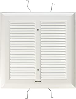 Broan S97011308  Spring Mounted Bathroom Fan Cover/Grille Assembly, White