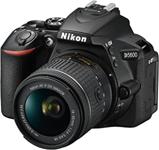 Nikon D5600 Digital SLR Camera and 18-55 mm VR DX AF-P Lens - Black
