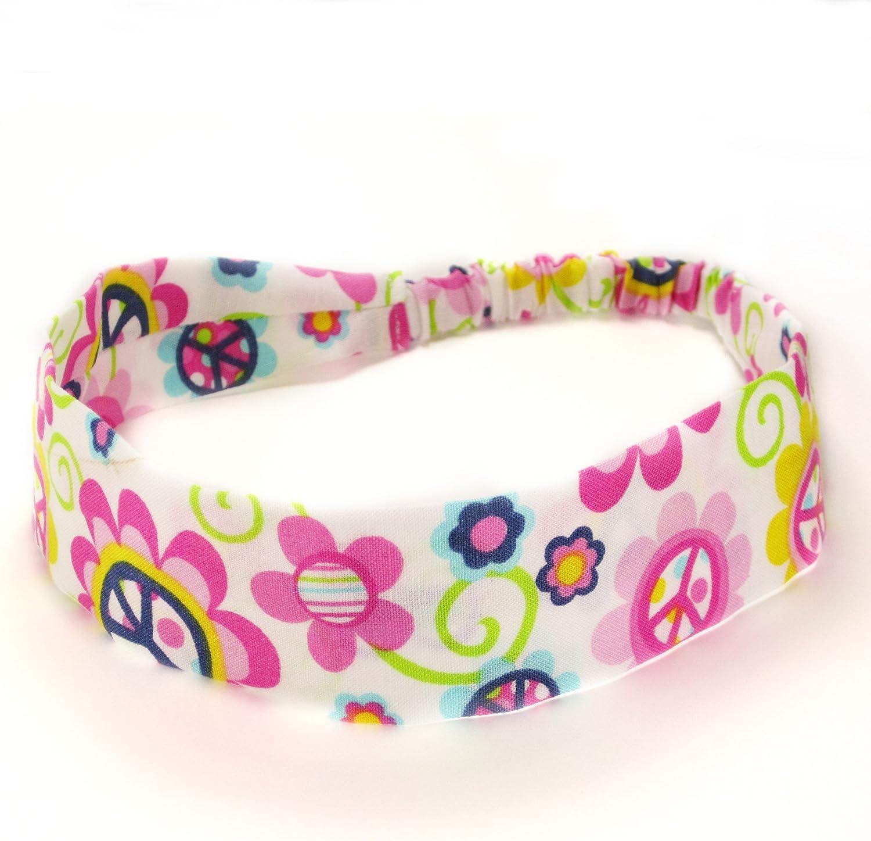 Peace Daisy Fabric Headband