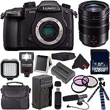 Panasonic Lumix DC-GH5 Mirrorless Micro Four Thirds Digital Camera DC-GH5KBODY (International Version) + Panasonic 12-60mm f/2.8-4 Lens + Battery + Charger + 128GB SDXC Card + Carrying Case Bundle