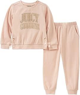 Juicy Couture 女童 2 件套裤子套装 - 天鹅绒,