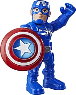 Super Hero Adventures Playskool Heroes Mega Mini Captain America Figure