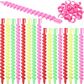 40 Pieces Two Size Plastic Spiral Hair Perm Rods Spiral Rod Barber Hairdressing Hair Rollers Salon Tools for Women and Girls