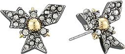 Crystal Encrusted Snowflake Post Earring