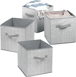 mDesign boîte de rangement pour enfant (lot de 4) – panier de rangement pour chambre enfant ou chambre à coucher – bac de ...
