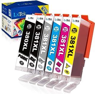 【LxTek】Canon用 キヤノン BCI-381 BCI-380 インクカートリッジ 6色セット 381XL 380XL 381 380 『互換インク/2年保証/大容量/説明書付/残量表示/個包装』対応機種:Canon PIXUS TS81...