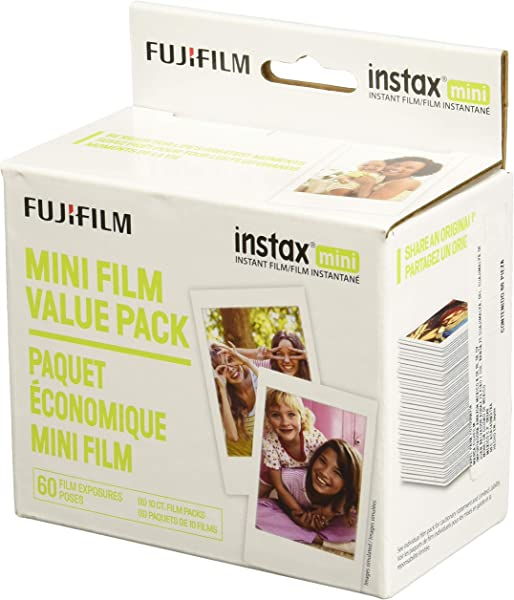 Fujifilm Instax Mini Instant Film Value Pack 60 Total Pictures Package May Vary