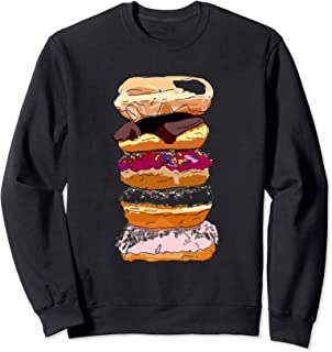 Funny Donut Stack Sweets Gift Watercolor Sweatshirt