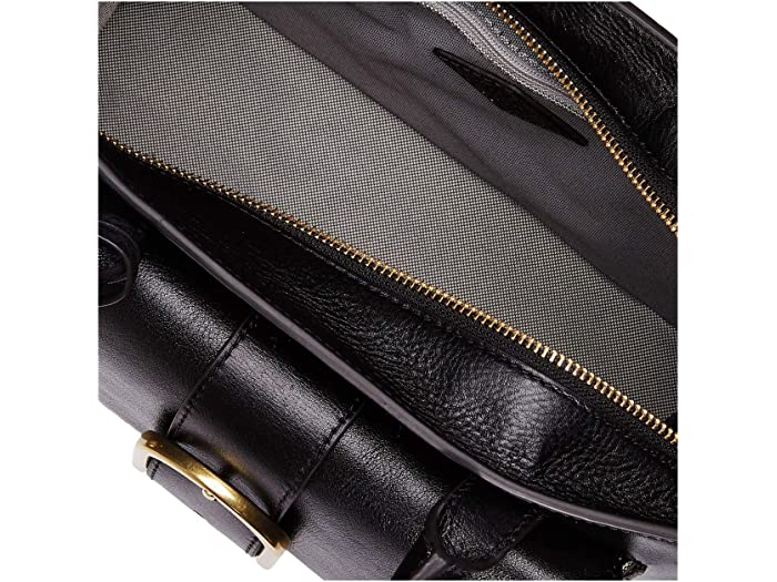 Fossil Wiley Leher Schel Handbag Black Handbags
