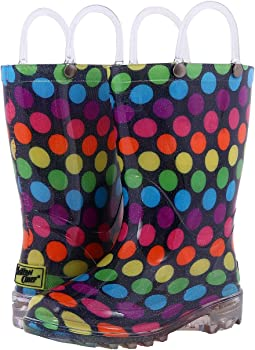 Western Chief Kids - Darling Dot Lighted Rain Boot (Toddler/Little Kid)
